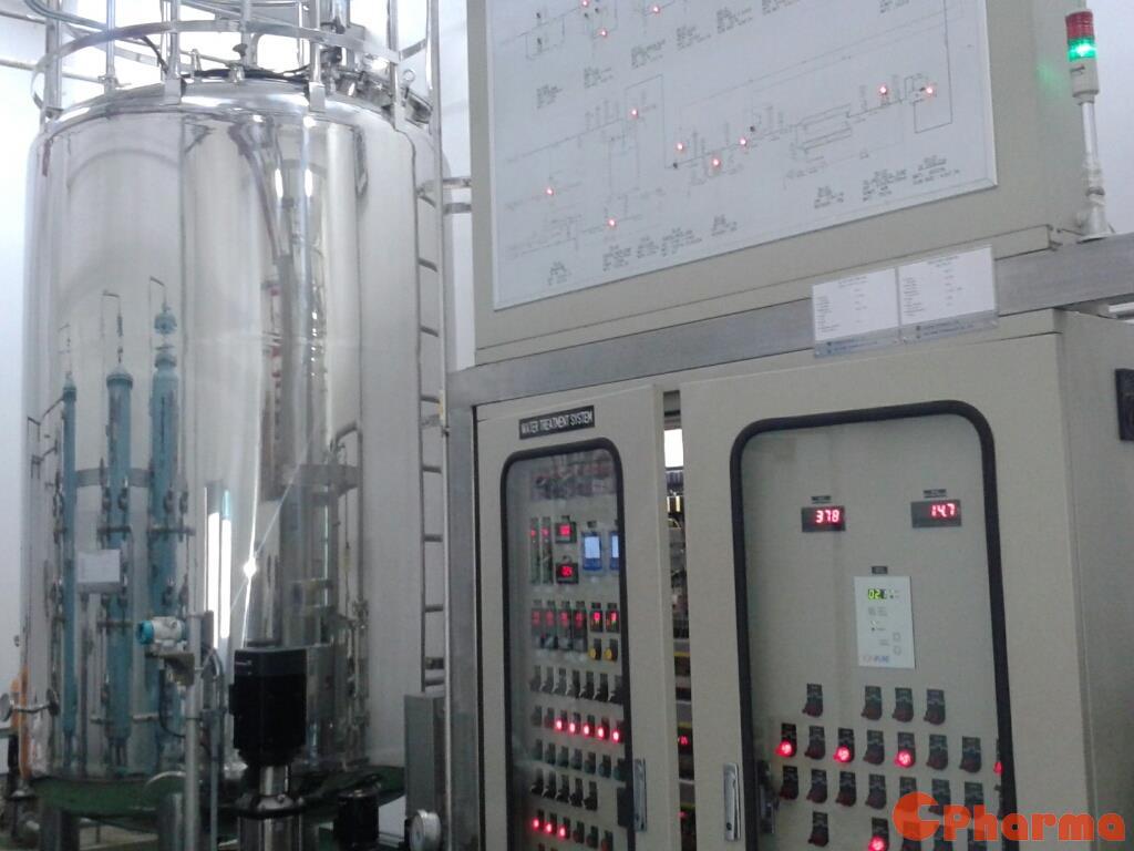 Bảng điều khiển hiện đại tại khu vực xử lý nước công ty Suheung Vietnam